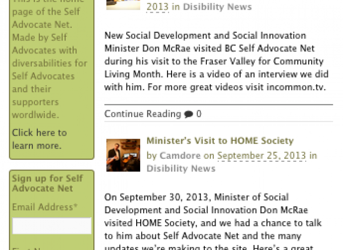 From the Archives: Self Advocate Net in 2013