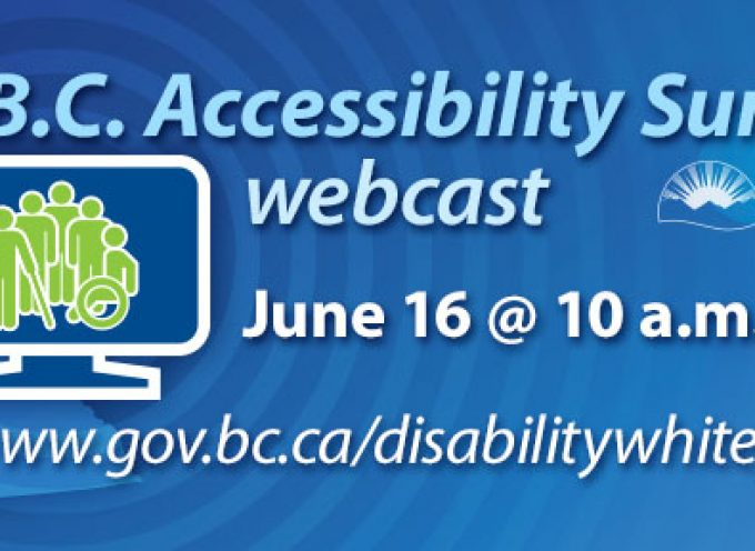 B.C. Accessibility Summit Streaming LIVE – Monday, June 16
