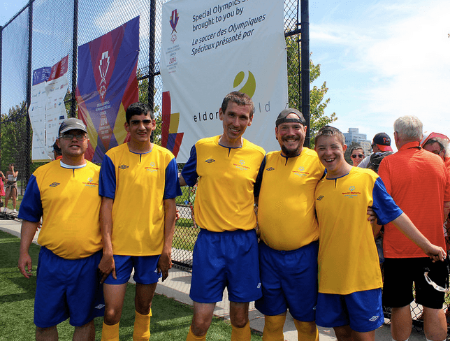 Team BC Soccer at Special Olympics Canada 2014