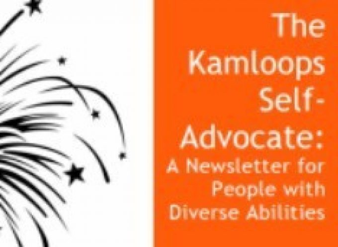 January Edition of The Kamloops Self-Advocate Newsletter 2015