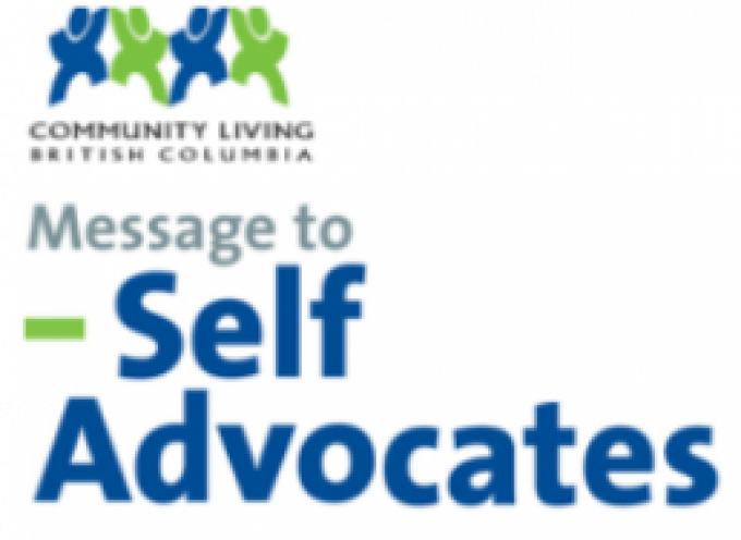 C.L.B.C. Messenge to Self Advocates October 2017