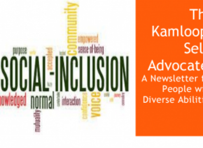 March Edition of The Kamloops Self-Advocate Newsletter 2015