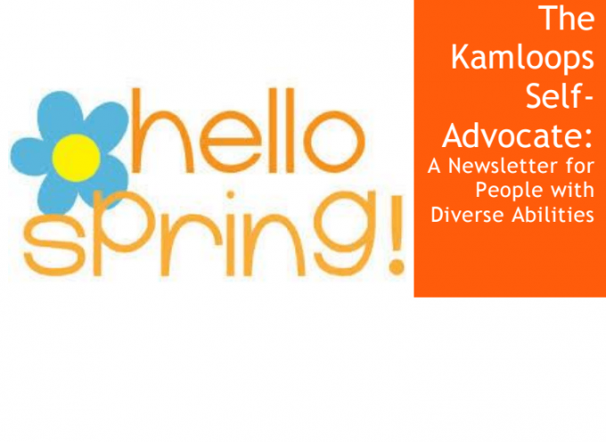 April Edition of The Kamloops Self-Advocate Newsletter 2015