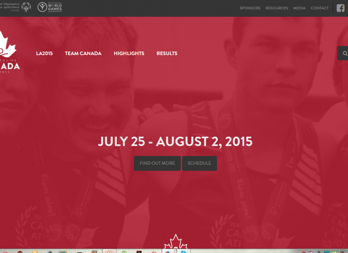 2015 Special Olympics World Summer Games Team Canada website