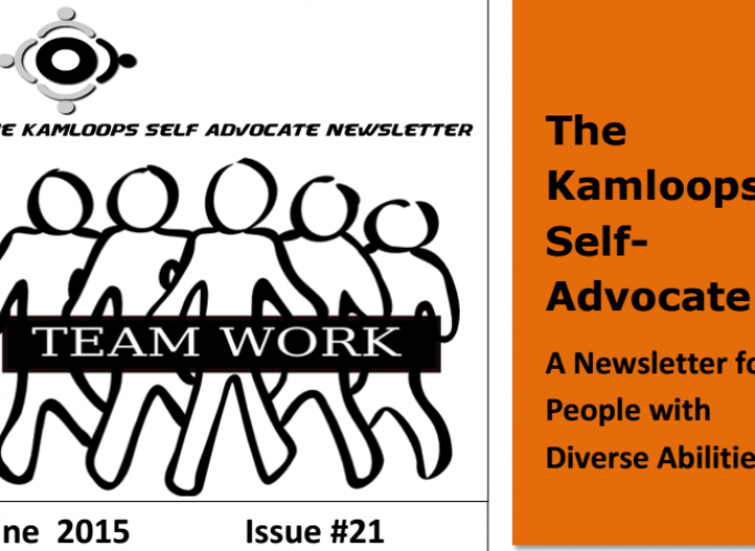 The Kamloops Self Advocate June Newsletter 2015