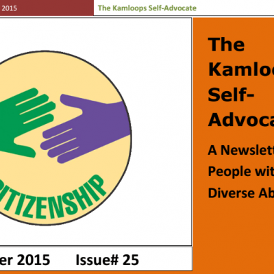 The Kamloops Self Advocate Newsletter Oct,2015 Edition