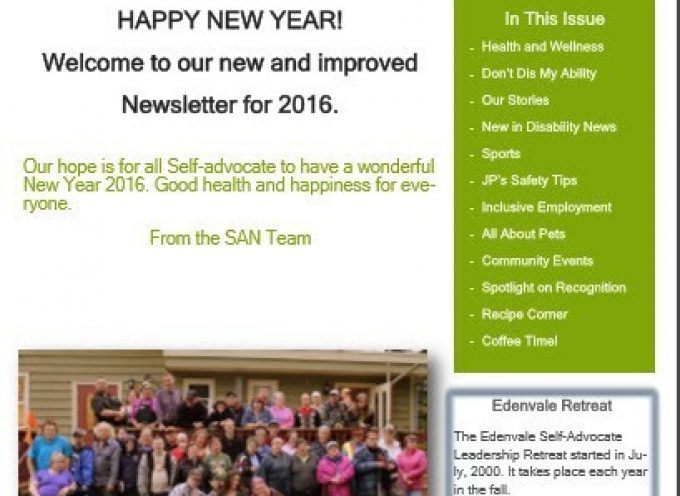 SAN Newsletter – January 2016