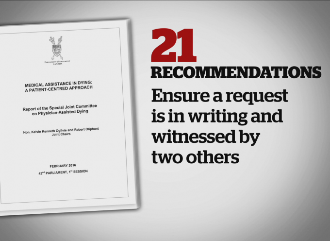 Committee on Doctor-Assisted Dying Releases 21 Recommendations report