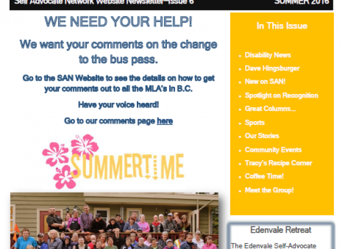 Sans Newsletter Summer Edition 2016