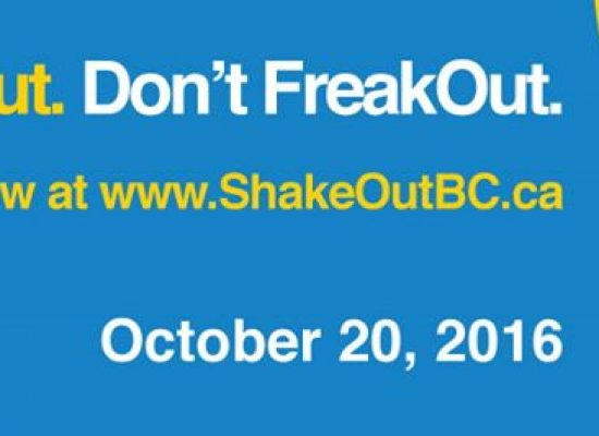 The Great BC ShakeOut 2016