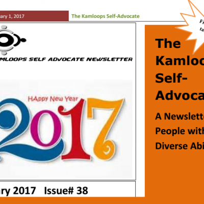 The Kamloops Self Advocates Newsletter January 2017 Edition