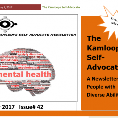 The Kamloops Self Advocates Newsletter May 2017 Edition
