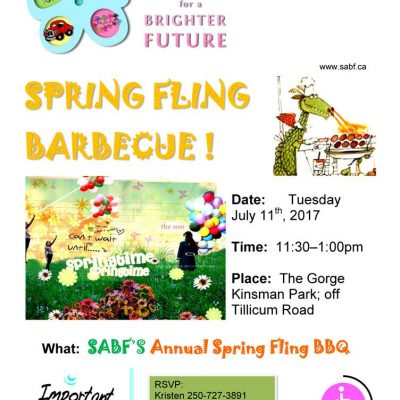 Self Advocates for a Brighter Future Annual Spring Fling Barbecue