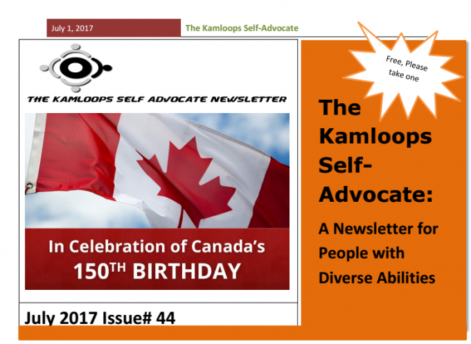 The Kamloops Self Advocates Newsletter July, 2017 Edition