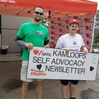 Big Bike Ride Event  for Heart and Stroke Foudation of Canada his Kamloops Self-Advocacy Newsletter team did