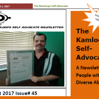 The Kamloops Self Advocates Newsletter August 2017 Edition