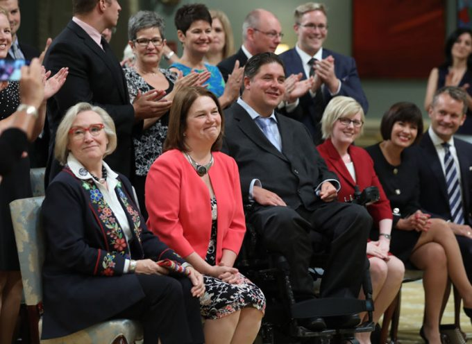 Prime Minister of Canada Cabinet Shuffle Announcement  on changes to the Ministries.