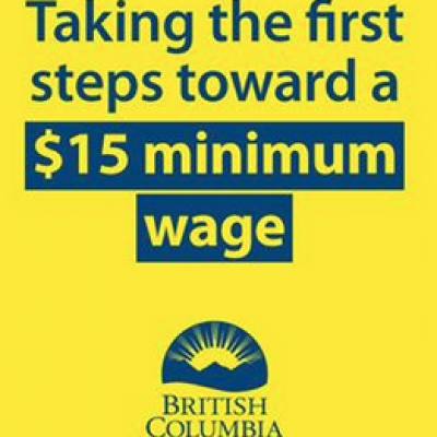 B.C. sets sights on $15-an-hour minimum wage, reaffirms commitment to a fair wages commission