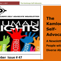 The Kamloops Self Advocates Newsletter November 2017 Edition