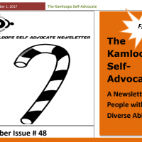 The Kamloops Self Advocates Newsletter December, 2017 Edition