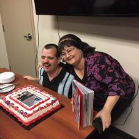 """CLBC Kamloops put on a celebration for Kristian Shaw on What's Your Story?"""" book about Canada's 150th."""