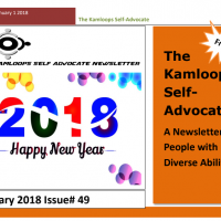 The Kamloops Self Advocates Newsletter January 2018 Edition
