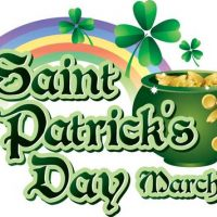St Patrick's Day March 17th,2019