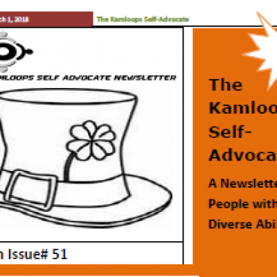 The Kamloops Self Advocates Newsletter March 2018 Edition