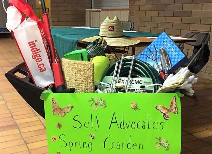Inclusion Powell River's Self Advocates' Spring Garden Raffle