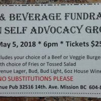 Mission Self Advocacy Group Burger & Beverage Fundraiser