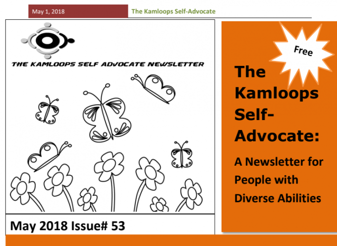 The Kamloops Self Advocates Newsletter May 2018 Edition