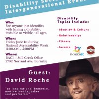 Burnaby – Disability Social and Inter generational Event