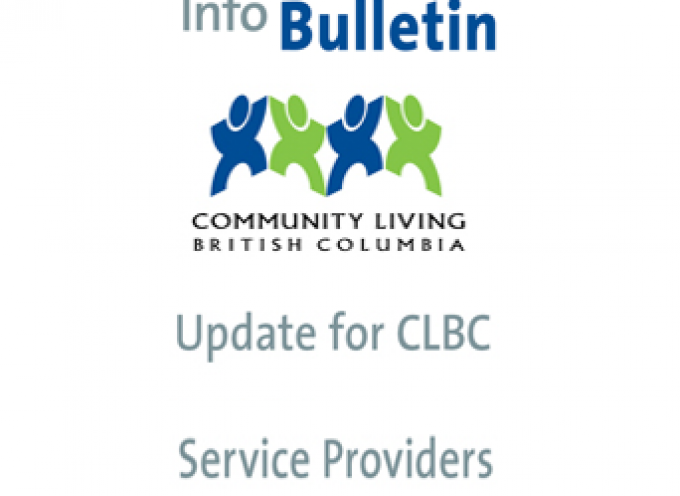 Info Bulletin Update for CLBC Service Providers