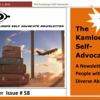 The Kamloops Self Advocates Newsletter October, 2018 Edition