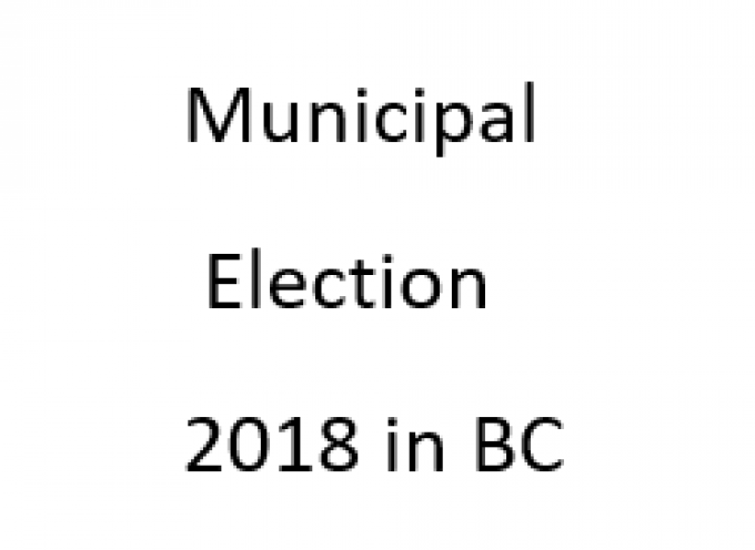 Municipal Election Day is October 20th,2018
