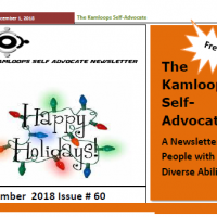 The Kamloops Self Advocates Newsletter December 2018 Edition