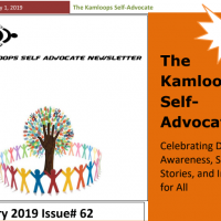 The Kamloops Self Advocates Newsletter Febuary, 2019 Edition