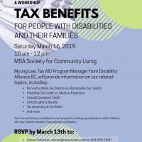 A tax benefits workshop co hosting by MSA Society for Community Living and Bethesda Christian Association
