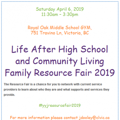 Life After High School and Community Living Resource Fair 2019