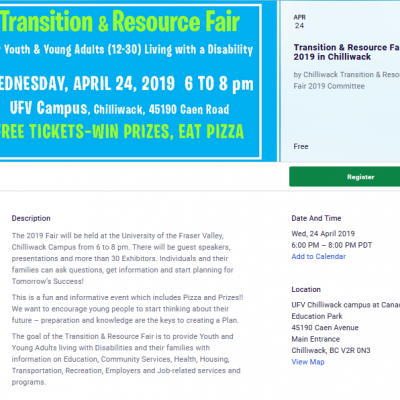 Chilliwack Transition and Resource Fair