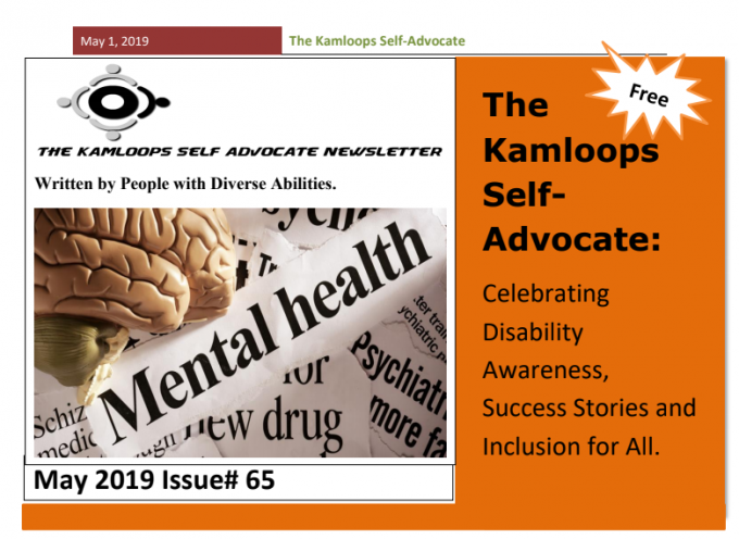 The Kamloops Self Advocates Newsletter May, 2019 Edition