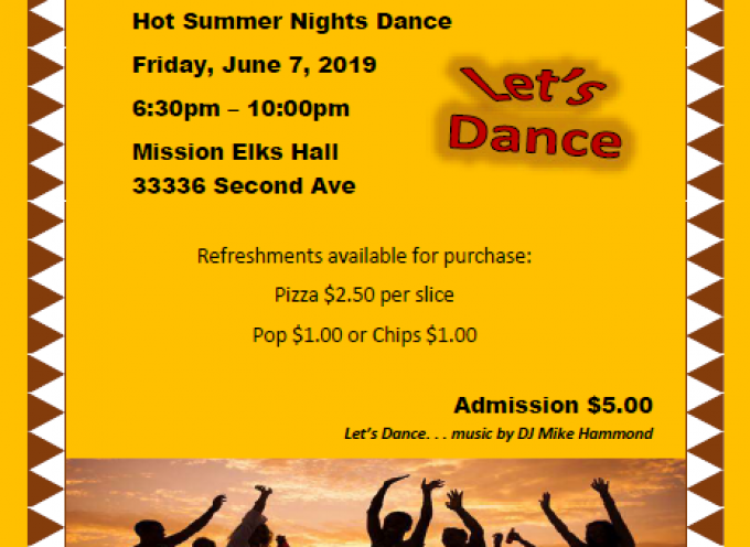 Mission Self Advocacy Group Hot Summer Nights Dance Fundraiser