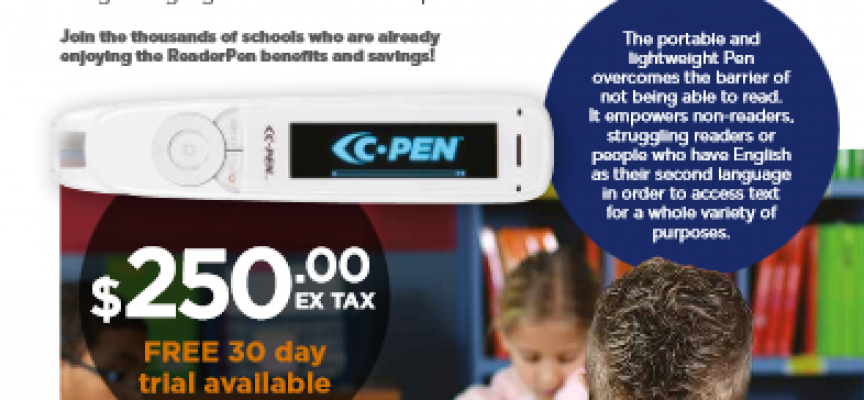 The C-Pen Reader pen introduced at Inclusion BC Conference