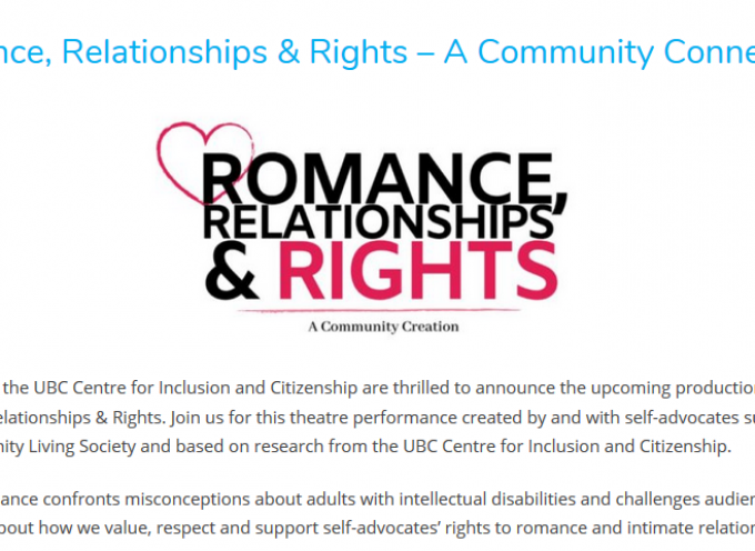 Romance, Relationships, and Rights – Community Connection