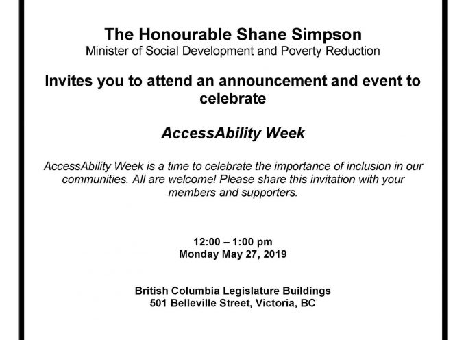 Next week is National #AccessAbility Week and Honourable @ShaneLSimpson Minister of Social Development and Poverty Reduction, will be making an announcement