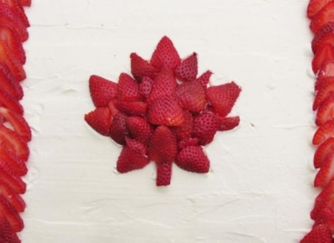 Canadian Flag Cake