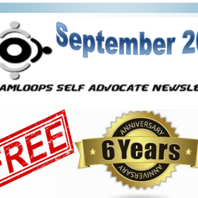 The Kamloops Self Advocates Newsletter September,2019 Edition