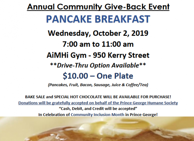 Annual Community Give-Back Event Pancake Breakfast
