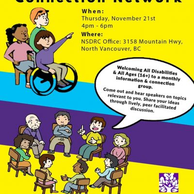 Disabled Community Connection Network Meeting November 21st at 4pm to 6pm