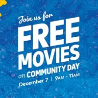Free Movies on Community Day December 7th,2019